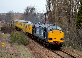 37607 & 37609 through Swinton with the 1Q13 Derby RTC to Derby RTC via Hull, 20th March 2014.