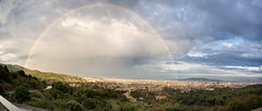 BCN bajo un doble arco iris (FOlmeda) Tags: barcelona storm nature skyline arcoiris clouds landscape timelapse video amazing rainbow natural bcn stormy panoramic panoramica tormenta hdr tibidabo sarria doblearcoiris