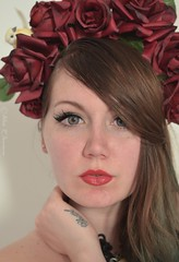 Lexa Crush (Alex R. Ionescu) Tags: flowers iris red roses portrait rome alex tattoo 35mm nikon purple violet r lexa crush headdress ionescu