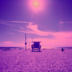 ave 26. venice beach, ca. 2014. (eyetwist) Tags: ocean california morning pink blue venice 6 seascape tower 120 6x6 mamiya film beach water analog mediumformat square 50mm la stand losangeles los xpro crossprocessed sand surf waves purple pacific angeles kodak surfer crossprocess magenta lifeguard icon ishootfilm hut pacificocean socal 400 caution surfboard venicebeach analogue mamiya6 baywatch westla emulsion primes angeleno vericolor vph oceanfrontwalk c41e6 eyetwist 6mf mamiya6mf theicon 26thavenue ishootkodak ave26 epsonv750pro recentlyprocessedfilm filmexif filmtagger eyetwistkevinballuff mamiya50mmf4l crossprocessedc41toe6 kodakvericolorvph400