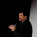 Neil deGrasse Tyson addresses the NC State crowd.