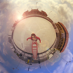on the roof-top-oftheworld (Buzzi Pietro) Tags: world park roof light sky bw sun fish colour eye car sunglasses clouds photoshop work vintage lens dawn photo 3d sundown graphic bend action top parking skating hard warp fisheye stereo filter sphere skate mantova round flare gradient planet bent polar universe staring coordinates pietro distort ipercoop stereographic spherize suzzara buzzi littleplanet thisisourtown instagram buzzipietro pietrobuzzi instastocazzo missicsnightasfuck butitsforthebestaintit recayo aworldinyourhands