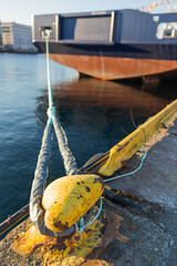 At the end of a rope (GEHPhotos) Tags: winter sea water norway boat ship harbour objects places rope quay mooring fjord bergen hordaland quayside canoneos6d ef2470mmf28usmii