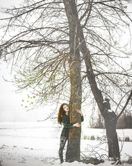 Ivy V (kelsey-mcmillan) Tags: trees snow green nerd nature girl ginger model ivy redhead triumph superhero poison villain