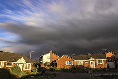 Stormfront - Helsby, Cheshire UK (Glyn Owen Photography & Image-Art) Tags: uk houses cloud storm cheshire zoom front effect helsby