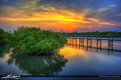 Pepper Park Riverside Sunset at Pier (Captain Kimo) Tags: sunset pier mangrove fortpierce stluciecounty photomatixpro hdrphotography captainkimo pepperparkriverside