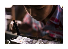 boy at silver smith workshop (jrockar) Tags: life travel boy portrait people lake 3 man men guy metal work canon silver lens fire photography 50mm prime kid child shot mark f14 candid burma iii 14 fine young documentary smith snap jewellery chain human workshop labour instant 5d myanmar inlelake inle moment 50 simple job making tool heating ef mk journalism subtle specialized inlay 5014 forging mandalayregion