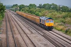 GB Railfreight Class 66 66757 (Barry Duffin) Tags: uk england lines train landscape photography nikon diesel shed rail railway loco trains locomotive dslr freight eastleigh class66 mml railscape gbrailfreight cossington gbrf 66757 d3000 6m26 mountsorell