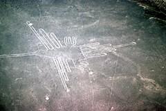 Nazca Hummingbird (Andy961) Tags: peru lines hummingbird desert aerial unesco designs kodachrome nazca worldheritage geoglyphs nasca