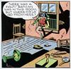 There was a fight! (Tom Simpson) Tags: robin illustration vintage comics newspaper code 1940s batman comicstrip 1945 matchbook boywonder matchcode