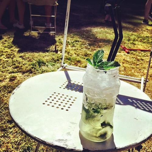 Garden of Eden from Josie Da Banks Jam Jar Bar #campbestival #cocktails #summer #festival #thefeastcollective #tppb