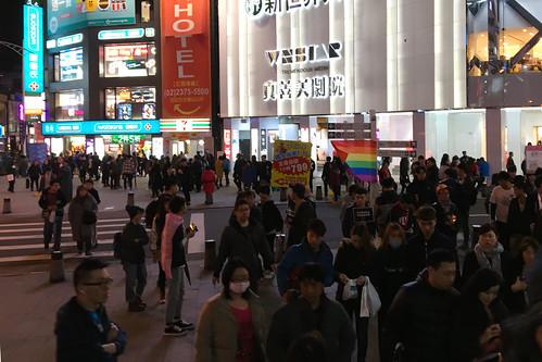 Taipei - LGBTI demo Ximen
