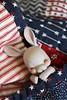 Zzzzz (AluminumDryad) Tags: cocoriang tobi bunny rabbit anthrobjd stripes ticking stars quilt patchwork americana