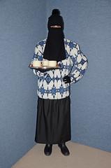 Slave Waitress (Buses,Trains and Fetish) Tags: slave maid waitress sweat fleece anorak apron torture girl niqab hijab burka chador boots hat