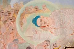 Reaching Parinirvana (mural) (krissen) Tags: 15htindien indien buddhism religion buddha parinirvana mural väggmålning painting nirvana siddharthagautama