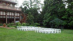 Southern Mansion wedding ceremony set-up (nayaradha) Tags: wedding violin capemay southernmansion flickrandroidapp:filter=none