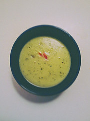 Dinner (KaffeDen) Tags: red color green photography soup photo bowl broccoli
