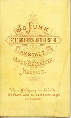 Around 1870, Funk reverse/verz (elinor04 thanks for 25,000,000+ views!) Tags: old man vintage typography photo graphics hungary photographer antique label victorian photograph funk font cdv backside reverse gentleman verso foundphotograph vintagephoto 1870s neusatz backmark nagybecskerek jvidk verz funkignc grosbecskerek ignazfunk hungarianvintagephotocollection elinorsvintagephotocollection versob