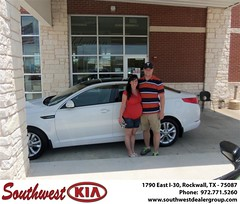 Southwest KIA of Rockwall would like to wish a Happy Anniversary to Caleb Lewis on your 2012 Kia Optima (Southwest Kia Rockwall) Tags: new southwest car sedan truck wagon happy dallas texas tx used vehicles mesquite bday dfw kia van suv coupe rockwall dealership hatchback dealer customers minvan 4dr metroplex shouts 2dr preowned