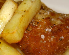 Fish & chips close-up (Tony Worrall Foto) Tags: uk food fish english dinner tomato lunch fry nice dish image cook tasty plate eaten chips lancashire eat potato meal mayo taste cooked northern chipped grub unhealthy fishandchips iatethis foodie flavour batter foodpictures picturesoffood 2013tonyworrall fishandchipsimage