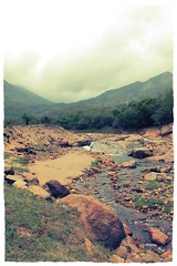 (Rajakrishnan k) Tags: blue mountain water stream cloudy dam rainy drizzling nellai kadana uploaded:by=flickrmobile flickriosapp:filter=chameleon chameleonfilter