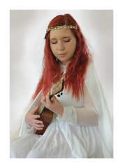 Jojo Worthington (poocher7) Tags: portrait costume ukulele elf fairy singer entertainer renaissancefestival redhair performer prettygirl recordingartist songwriter woodstockontario stageact dressedinwhite jojoworthington oxfordrenaissancefestival