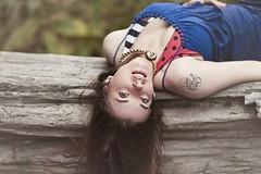 Vanadaium Upside Down (Vanadium789) Tags: blue summer portrait sun face sunshine hair photography photo necklace model eyes nikon long dress modeling snake top sunny photographic sparkle bikini swirl hemp lengthy summery d90 nikond90