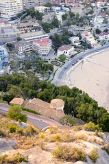 view from a mountain looking down to the shore (Claire_Sambrook) Tags: high spain travels europe view hill lookingdown height