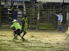 DSCN1911 (Barbwire Gypsy) Tags: cowboys bull riding bullfighter april rodeo rider 2012 riders ksa bullfighters blakehunter