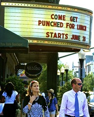 Come Get Punched? - Savannah Georgia (Meridith112) Tags: signs sign ga georgia nikon theater savannah funnysigns punched avontheatre nikon2485 nikond7000 getpunched comegetpunchedforlunched