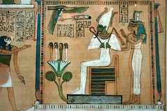Hunefer's Book of the Dead, detail with Horus and pavilion
