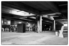 LCMF 2013 Ma La Pert (Tony Conrad & Jennifer Walshe) soundcheck @ Peckham Car Park, London, 28th July 2013 (fabiolug) Tags: leica summer blackandwhite bw music building london art geometric monochrome lines festival architecture 35mm blackwhite concert experimental floor pavement geometry contemporary live parking voigtlander gig columns cement livemusic performance shapes voice rangefinder ceiling line violin column monochrom minimalism carpark soundcheck vocals southlondon biancoenero peckham avantgarde drone londonist carparking tonyconrad londonarchitecture leicam contemporaryclassical malapert voigtlandernokton35mmf14 voigtlandernoktonclassic35mmf14 silverefexpro voigtlander35mmf14 boldtendencies jenniferwalshe silverefexpro2 mmonochrom leicammonochrom leicamonochrom lcmf lcmf2013 londoncontemporarymusicfestival londoncontemporarymusicfestival2013 peckamcarpark contemporararymusic