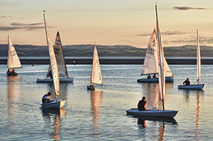 West Kirby lake evening sail (jimmedia) Tags: