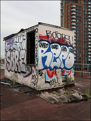 Crust, Sore, Boobs, Repo... (Alex Ellison) Tags: urban rooftop crust graffiti boobs foof fu graff eastlondon sore repo krust foofe