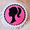 Barbie Silhouette (Sweet Pudgy Panda) Tags: birthday pink white black silhouette cake barbie zebra fondant zebrastripes vintagebarbie sweetpudgypanda