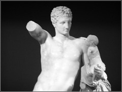 Hermes of Praxiteles (RobW_) Tags: hermes praxiteles statue ancient olympia ilia peloponnese greece tuesday 17sep2013 sep2013 september 2013 diaryphoto mdpd2013 mdpd201309 blacknwhite
