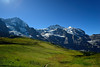 The View from Kleine Scheidegg Train Station (jerryjcwu) Tags: travel summer snow mountains nature landscape switzerland countryside scenery europe railway glacier nikkor alpinevillage kleinescheidegg d600 alpinegrassland nikonafsnikkor1835mmf3545ged