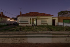 Just A Warm Night (Andrew_Dempster) Tags: longexposure nightphotography chimney house fountain car night fence weeds suburban suburbia australia aerial bin porch shutters suburb sa frontyard southaustralia frontdoor underdale
