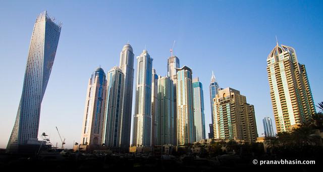 Dubai Skyline From Dubai Marina