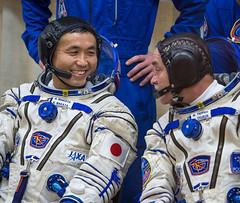 Expedition 38 Prelaunch (NASA Johnson) Tags: kazakhstan baikonur mikhailtyurin building254 baikonurcosmodrome koichiwakata russiansokolsuit expedition38 expedition38prelaunch