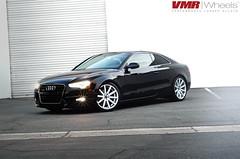 VMR Wheels | V702 Matte Hyper Silver on a Brilliant Black Audi A5 (VMR Wheels) Tags: vw silver volkswagen european deep lip audi a5 matte concave deepdish s5 b85 undercut b8 v702 brilliantblack hypersilver mattehypersilver