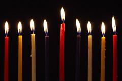 Hanukkiah 1 (Ben Unleashed!) Tags: light holiday macro fire israel candle celebration festivaloflight flame upclose menorah hanukkiah pentaxkr