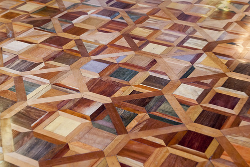 Amazing Wood Parquet Floor in National Theater of Costa Rica