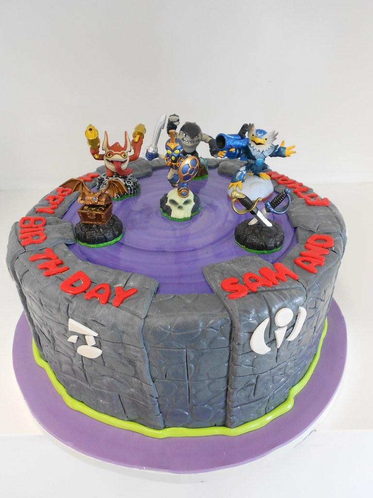 Skylander Boy And Girl Birthday Cake