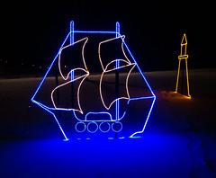 Sailing on the Blue (Jay:Dee) Tags: park christmas light holiday ontario festival burlington festive happy lights joy decoration smith spencer fol 2013