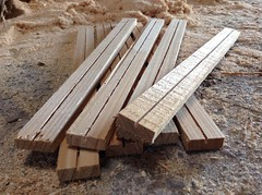 8 grooved Top bars for a Warre Beehive