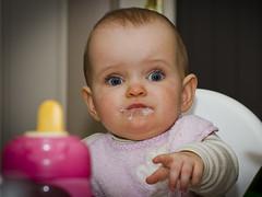 """Eating (Vidar """"the Viking"""" Ringstad, Norway) Tags: winter portrait baby cold girl norway canon eos norge eyes child looking eating norwegen indoor 7d kløfta selmateigenkjærstad"""