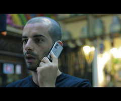 The Call (Mouhb) Tags: portrait mobile call phone cellphone cell communication surprise shock contact choc telecom telecommunication shocked suspens