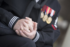 Ben & Amanda (Crowefly Images) Tags: snow cold soldier hands navy medal medals handholding holdhands