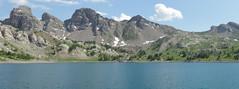 Le Lac d'Allos (Hlne_D) Tags: park panorama lake france photoshop landscape nationalpark lac paca np provence paysage parc alpesdehauteprovence ahp allos parcnational provencealpesctedazur parcdumercantour lacdallos mercantournp alloslake hlned